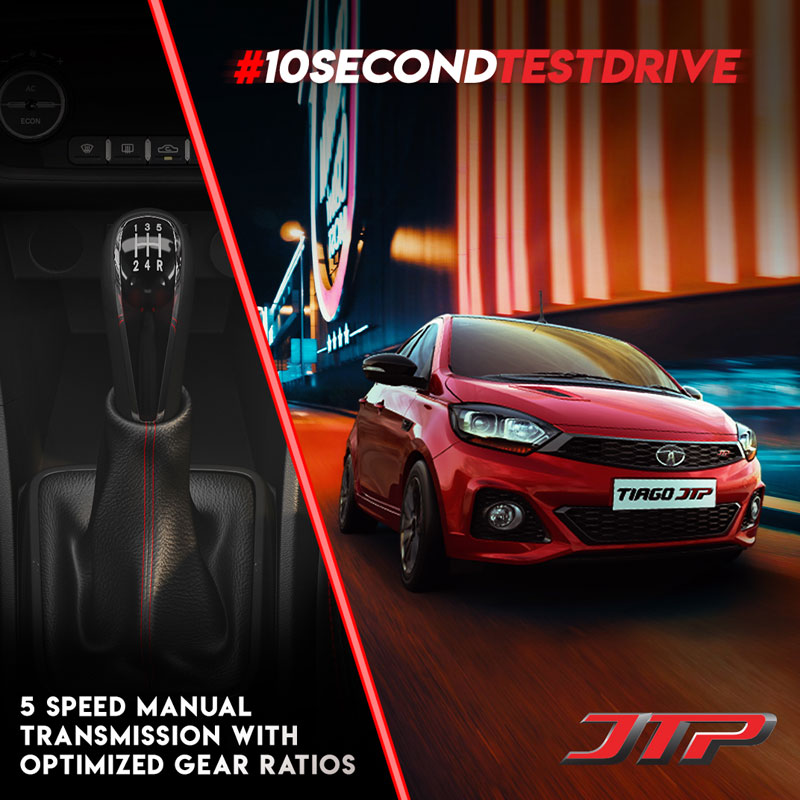 Creative about Transmission for 10 Second test drive campaign